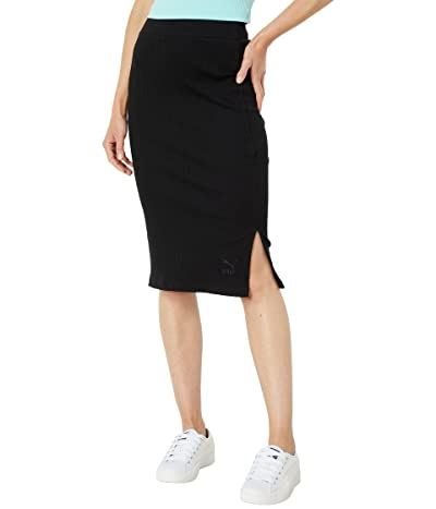 PUMA Classics Ribbed Midi Skirt