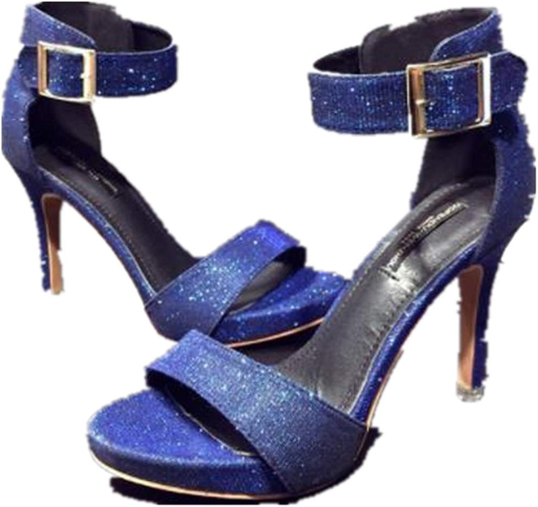 FLourishing Women's Ankle Strap Platform High Heels Party Sandal - Peep Toe Sandal Pump - Sexy Stiletto Dressy Heel