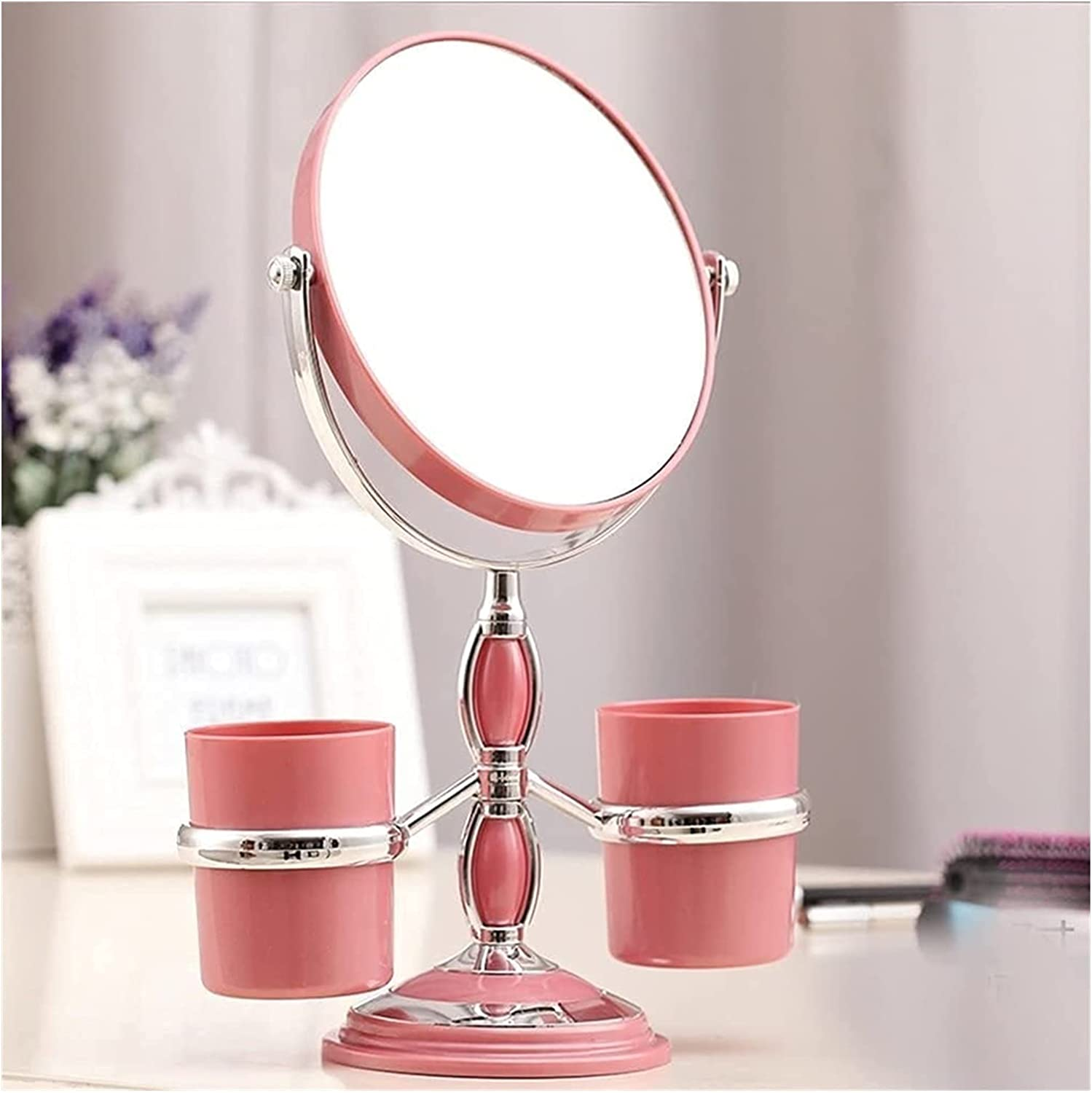 Max 86% OFF HLD Desktop Makeup Mirror Double-Sided Dress 360 Rotating NEW before selling Degree