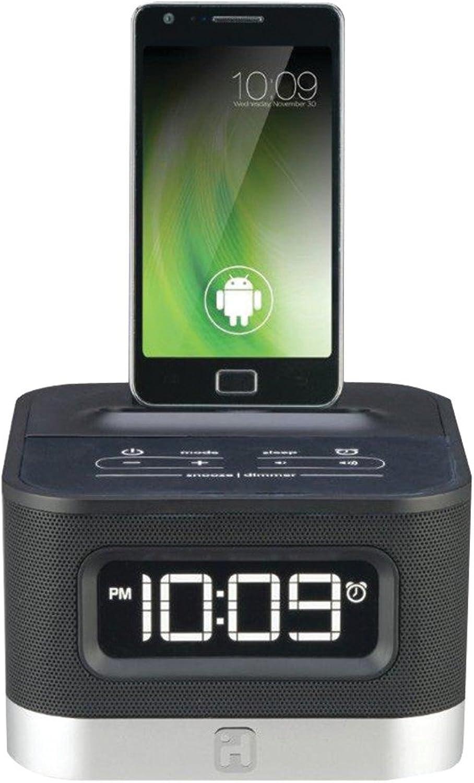 IHMIC50B - IHOME iC50B Universal Charging FM Stereo Alarm Clock Radio for Android (TM) Smartphones