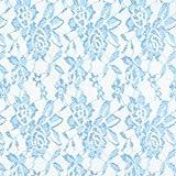 Fabulous Fabrics Spitze hellblau, Blume, 150cm breit –