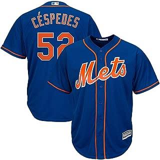 Yoenis Cespedes New York Mets MLB Majestic Youth Boys 8-20 Blue Alternate Cool Base Replica Jersey