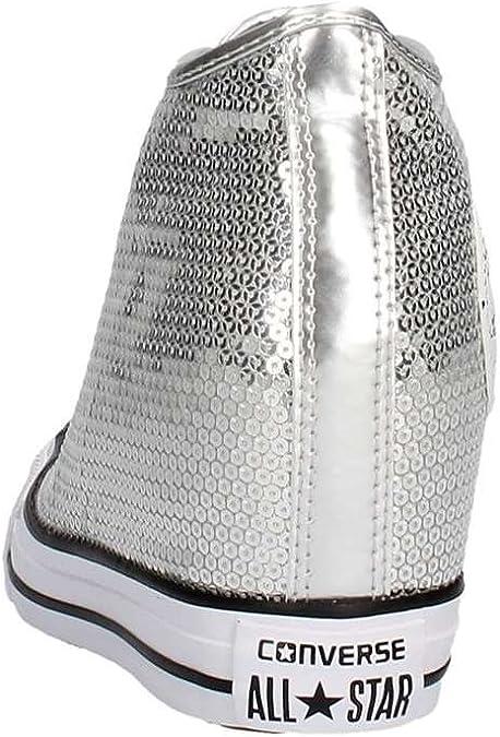 converse zeppa argento