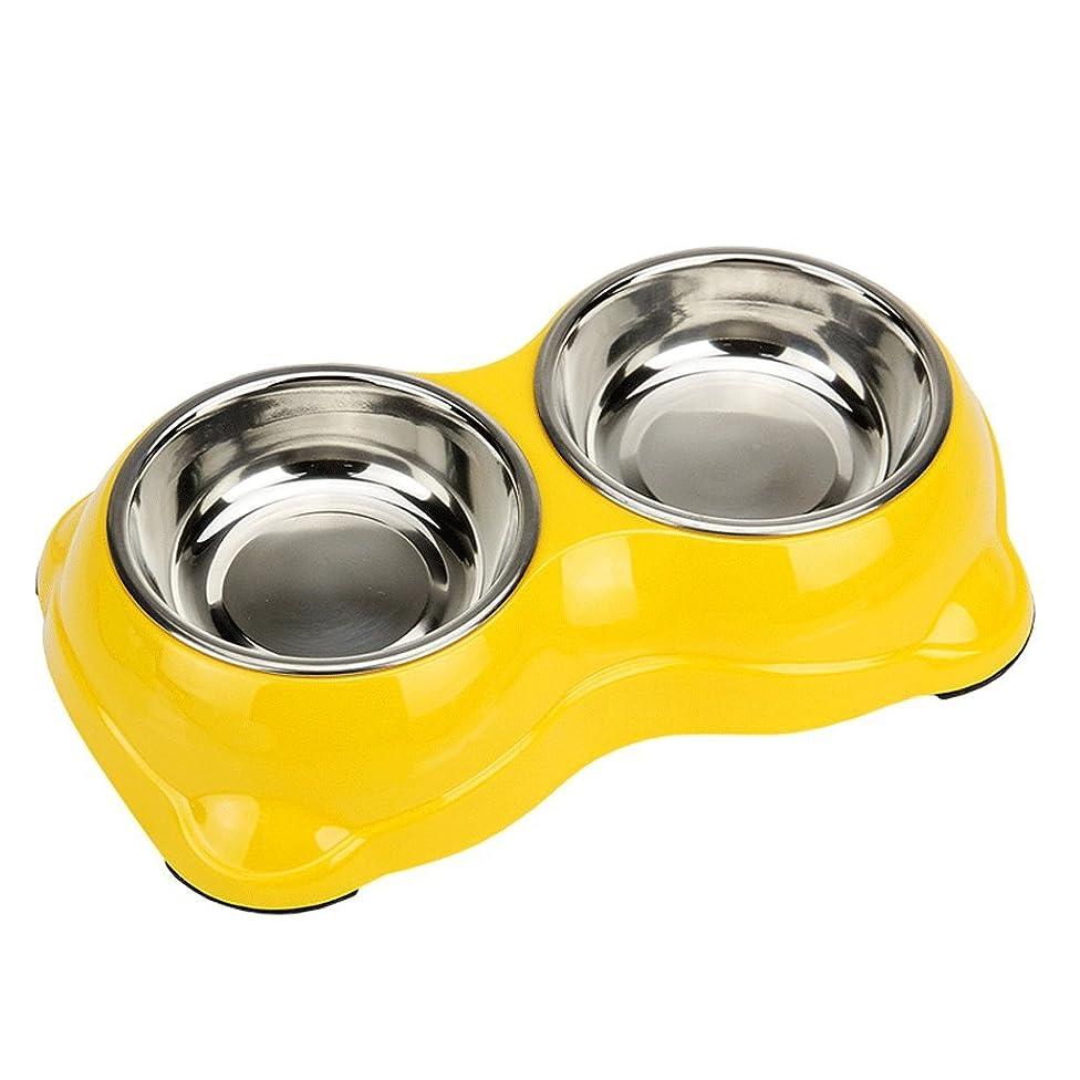 JFJF Stainless Steel Dog Bowl Double Bowl Cat Bowl Dog Food Bowl Pet Bowl