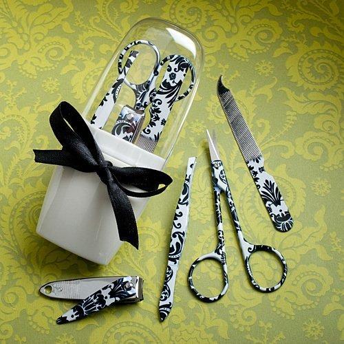 Useful Wedding Favors: Damask Manicure Sets, 17