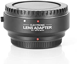 Fotga Electronic Aperture Control Auto Focus AF Adapter Ring for Canon EOS EF EF-S Lens to M4/3 Micro 4/3 Camera Panasonic GH5 4 3 2 1, Olympus OM-D E-M1 M5 M10/E-PL8 7 6 5