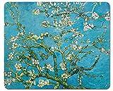 1art1 Vincent Van Gogh - Ramo di Mandorlo in Fiore, 1890 Tappetino per Mouse (23 x 19cm)