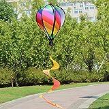 Windspiel, 6 Paneele, Regenbogen-Heißluftballon, hängende Dekoration für Hof & Gartenparty (Stil 1)