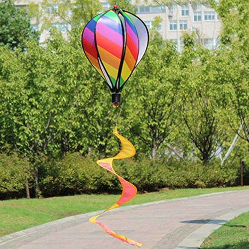 Wind Spinner 6 Panel Regenboog Hot Air Ballon Hangende Decoratie voor Yard & Garden Party Stijl 1