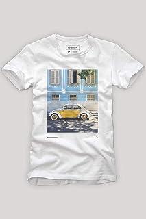 Camiseta Fusquinha Amarelo E Branco Reserva