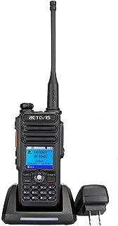 Retevis RT82 DMR Radio Dual Band Digital Two Way Radio Record SMS Alarm LCD Color Display 3000 CH 10000 Contact Waterproof Ham Amateur Radio(1 Pack)