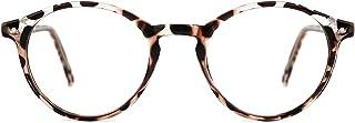 عینک های مسدود کننده نور آبی TIJN زنانه عینک فریم لبه گرد ضخیم Vintage