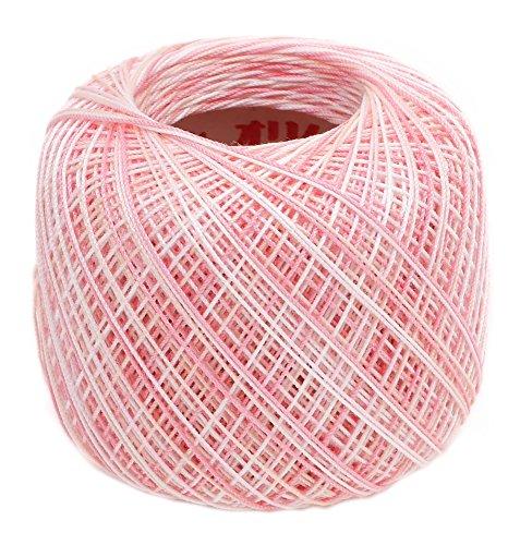 オリムパス製絲 タティングレース糸 カラフル 細 レース糸 Col.T502 ピンク 系 約40m 3玉セット