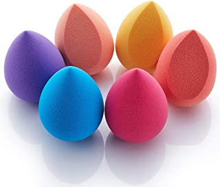 ZEHONG Beauty Blender Set 6 Pack Makeup Sponge Multi Shaped & Colored Soft Non-Latex Vegan foundation sponge Flawless Application for Liquids Concealer Cream Powder for Dry & Wet Use