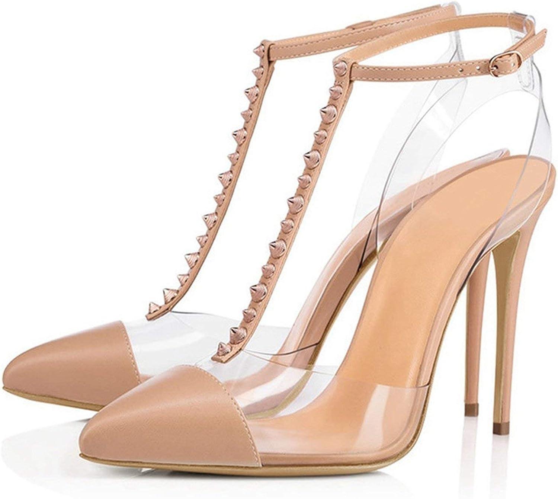 Just XiaoZhouZhou Women Sexy Fashion High Heel Pumps Pointed Toe Casual Buckle Fashion shoes 2019 Women shoes Size 35-45 LY1251