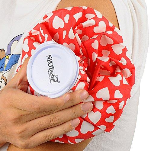 Bolsa de hielo - Tapón de rosca - Marca Neotech Care - Diseño (corazones, 12cm)