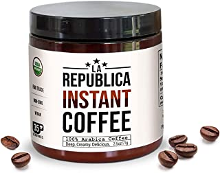 Sponsored Ad - La Republica Organic Instant Coffee (35 Servings), Rich Medium Roast Coffee with Toasted Caramel Notes, Sma...
