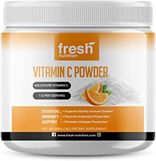 Vitamin C Powder 1lb – Pure Powerful 456 Servings of Immune Support – 2000mg/1000mg/500mg Per Serving Will Last a Long Tim...