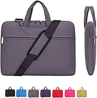 CROMI Laptop Case, Laptop Shoulder Bag, Simplicity Slim Briefcase Commuter Bag Business Sleeve Carrying Handle Bag Nylon Waterproof Notebook Shoulder Messenger Bag