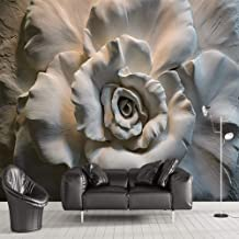 Papel Tapiz 3D Premium Art Print Fleece Mural De Pared Decoración Póster Imagen Diseño.-Flores Cruzadas-Tela No Tejida Mat...