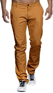 WUAI-Men Chino Pants Relaxed Fit Straight-Leg Stretch Twill Work Cargo Pant Plus Size
