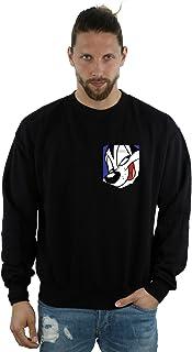 Looney Tunes Men's Pepe Le Pew Face Faux Pocket Sweatshirt