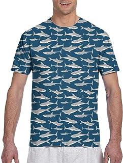 Hombres - Camisa Cute Shark Classic Fit T-Shirt Camisa Deportiva de Manga Corta