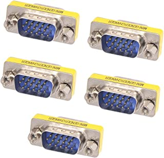 GOWOS HD15 Male to HD15 Female SVGA Mini Coupler for PC 50 Pack