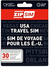ZIP SIM Prepaid USA SIM For Travelers TALK+TEXT+DATA 30 Days Plan(Universal : Standard, Micro, Nano SIM)