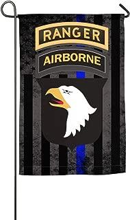 LEILEIflag US Army 101st Airborne Ranger Tabs with Thin Blue Line Flag Home Flag Outdoor Flag Garden Flag