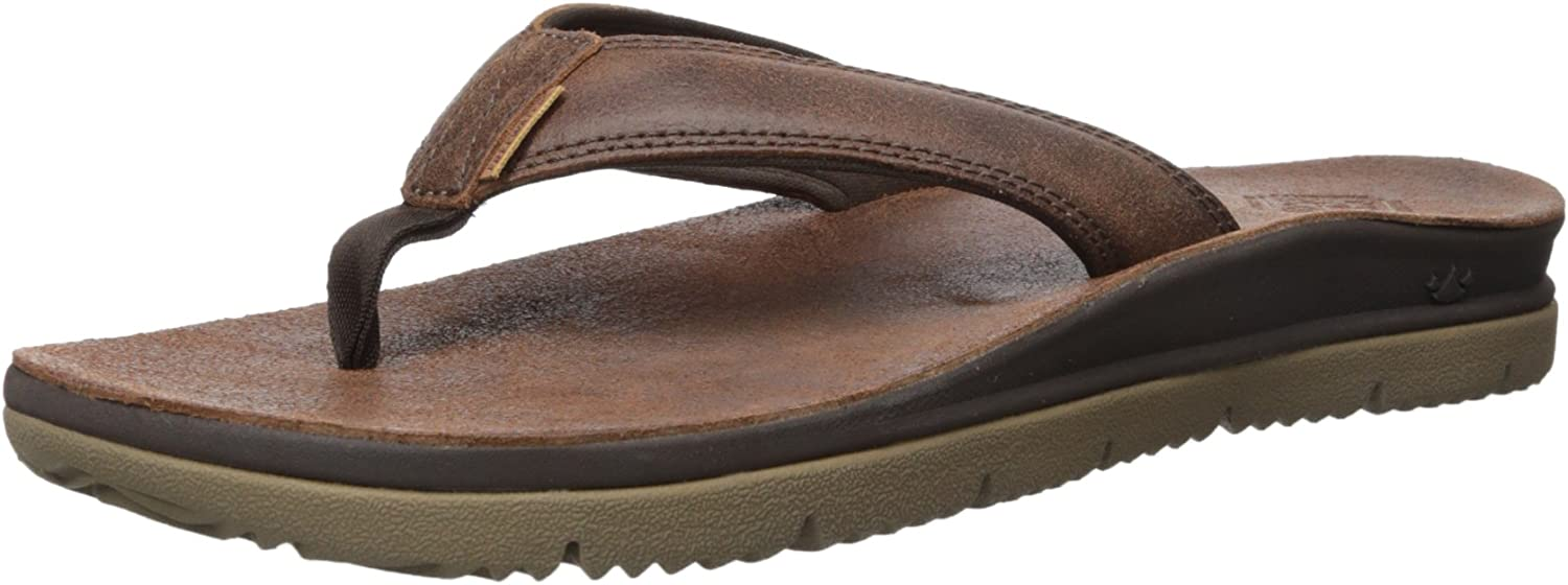 Freewaters Men's Tall Boy Leather Flip Flop Sandal