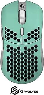 G-Wolves Hati HT-M ゲーミングマウス Pixart 3360-60g 軽量 ハニカムデザイン 搭載 (青色)