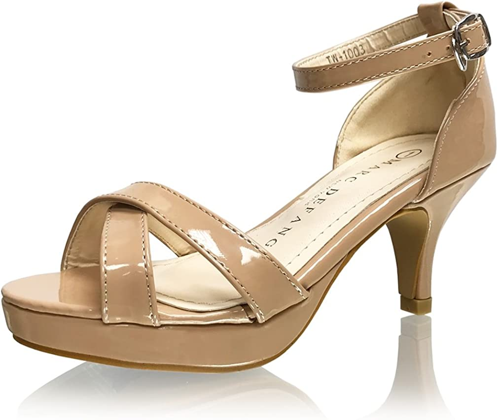 Marc Defang New York Girl's Max 90% OFF Ranking integrated 1st place Sandal Tween Patent Leather Platform