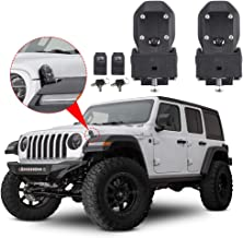 Hood Latches Hood Lock Catch Latches Kit Anti-Theft for Jeep Wrangler JL Sports, Sahara, Freedom & Rubicon 2018 2019 (Black)