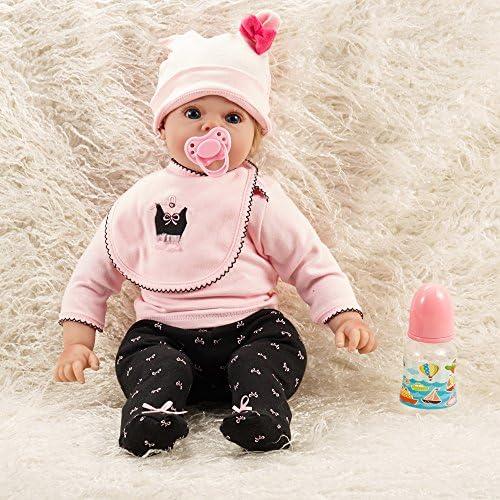 QXMEI Wiedergeburt Babypuppe 20 Zoll   50cm   Simulation Baby Frühe Bildung Spielzeug Gliedmaßen Silikon Kinder Geschenk
