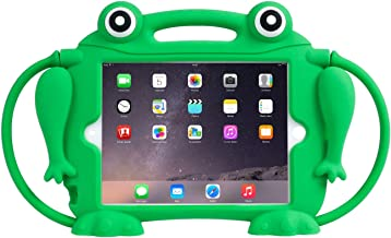 Kids Case for iPad Mini 1 2 3 4 5 - CHIN FAI [Eye Popping Frog] Shockproof Silicone Handle Stand Protective Cover for Appl...