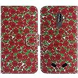 TienJueShi Rose Blume Flip Book-Style Brief Leder Tasche Schutz Hulle Handy Hülle Abdeckung Fall Wallet Cover Etui Skin Fur Blackview BV9000 Pro 5.7 inch
