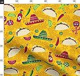 Sombrero, Mexiko, Limetten, Tomaten Stoffe - Individuell