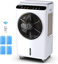 COSTWAY Evaporative Cooler, Industrial Air Cooler, 3 Speed & Mode, Quiet Electric Fan & Humidifier, 7-Gallon Water Tank with Remote Control for Factory, Workshop, Supermarket (36-Inch Height)