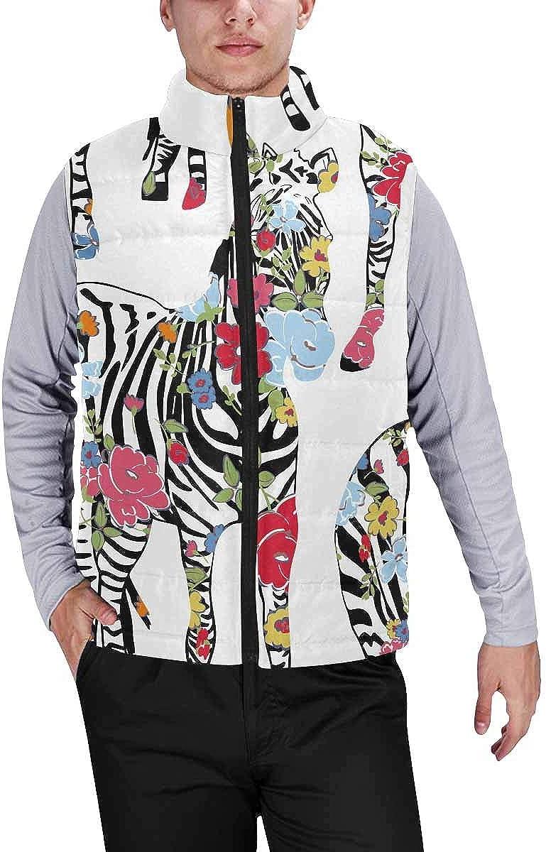InterestPrint Men's Lightweight Sleeveless Jacket for Travel Hiking Running You Are My Sunshine