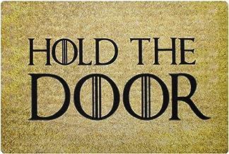 Pinji Funny Doormat Hold The Door Non-Slip Rubber Entrance Mat Floor Mat Rug Indoor/Outdoor/Front Door/Bathroom Mats Perso...
