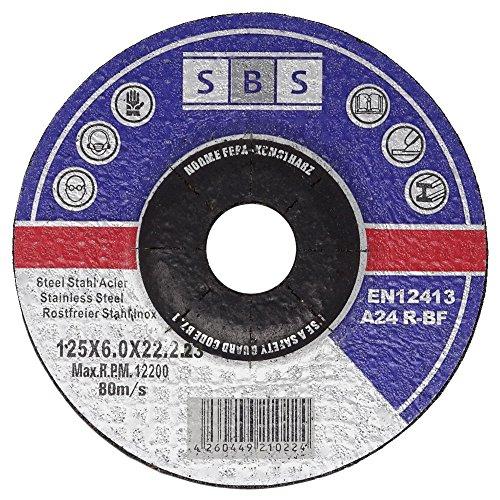 SBS schleifmoppteller lot de 50 disques à ébarber 125 x 6 mm