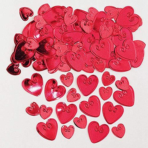 amscan 9900856 Cœurs 14 g Loving Ruby confettis métalliques en Relief