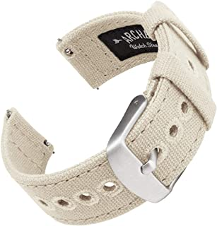 Archer Watch Straps - Canvas Quick Release Watch Bands | Multiple Colors, 18mm, 20mm, 22mm