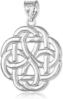 14k White Gold Triquetra Celtic Trinity Pendant