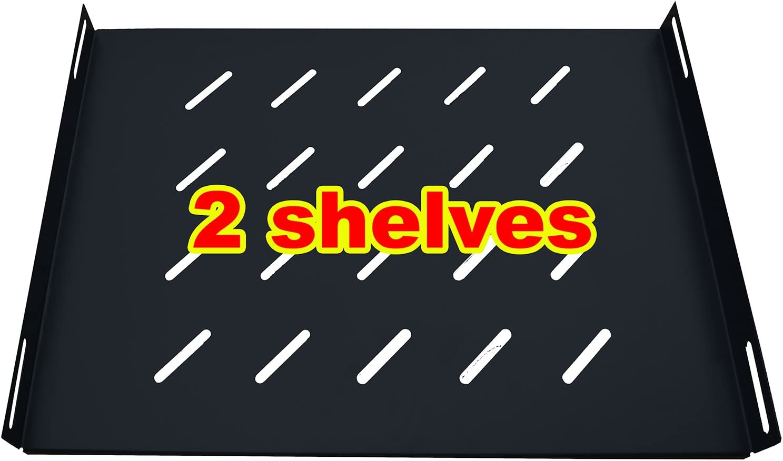 Sysracks 18U Network Server Rack Cabinet Enclosure. Accessories Free! 8-Socket PDU, Vented Shelf, Cooling Fan, 24
