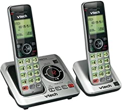 $48 » VTech CS6629-2 DECT 6.0 Expandable Cordless Phone with Answering System and Caller ID/Call Waiting, Silver with 2 Handsets