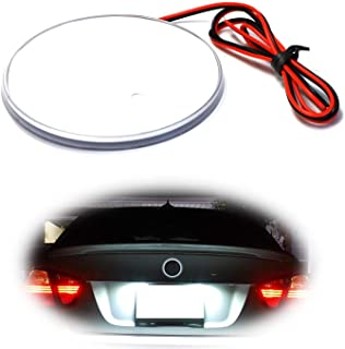 iJDMTOY (1) White LED Illuminated Emblem Background Lighting Kit For BMW Front Hood or Rear Trunk 3.25-Inch 82mm Roundel Emblem