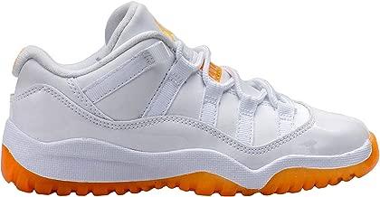 [580522-139] AIR Jordan Girls AJ 11 Retro Low PRE-School Sneakers AIR JORDANWHITE CITRUSM