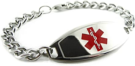 My Identity Doctor - Pre-Engraved & Customized Bariatric Surgery Medical Bracelet, Red